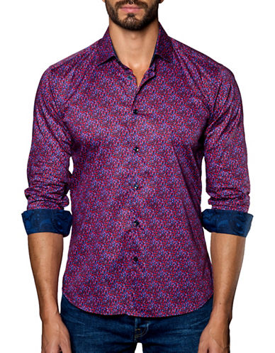 Jared Lang Mosaic Sport Shirt-ASSORTED-Large