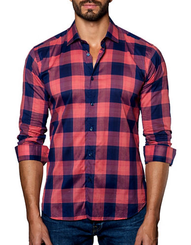 Jared Lang Checked Sport Shirt-ASSORTED-Large