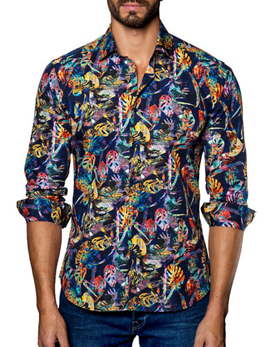 Jared Lang Printed Cotton Shirt-ASSORTED-Medium