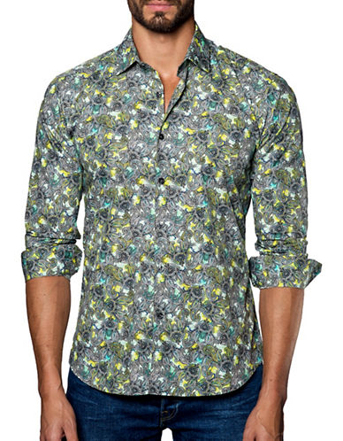 Jared Lang Paisley Patterned Sport Shirt-ASSORTED-XXX-Large