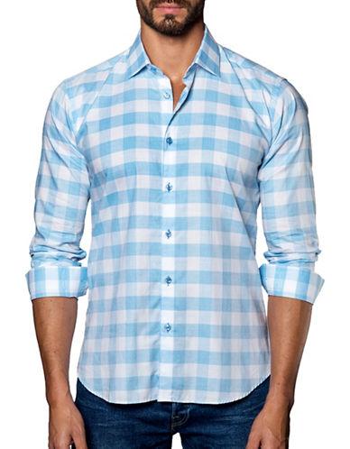 Jared Lang Textured Checks Shirt-ASSORTED-X-Large