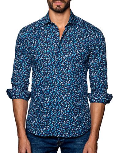 Jared Lang Printed Cotton Shirt-ASSORTED-X-Large