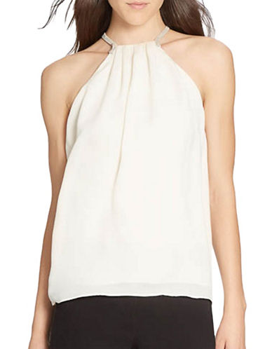 Halston Heritage Multi-Strap Georgette Top-WHITE-10