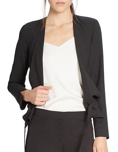 Halston Heritage Draped Front Jacket-BLACK-X-Small 88625298_BLACK_X-Small