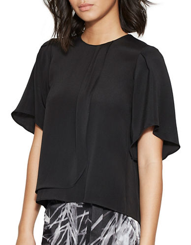 Halston Heritage Draped Front Top-BLACK-Medium 88837028_BLACK_Medium