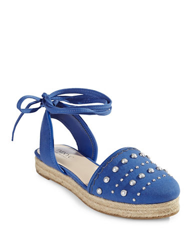 Imnyc Isaac Mizrahi Pearl Studded Espadrilles-BLUE-7.5
