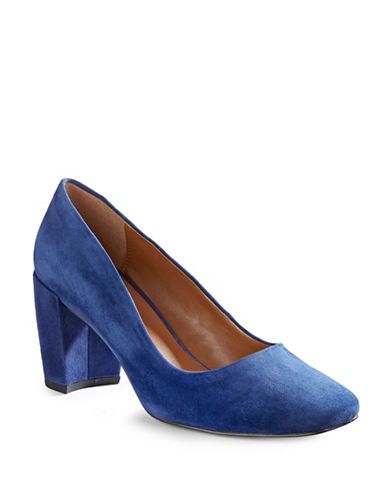 H Halston Whitney Suede Pumps-BLUE-9.5