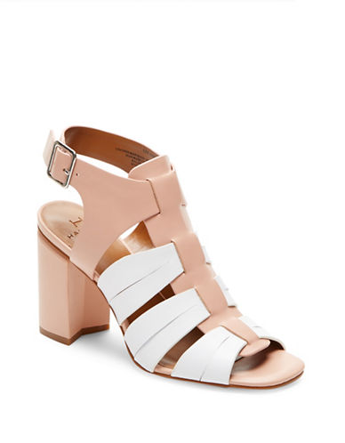 H Halston Ruby Ankle Strap Leather Heels-BEIGE-10