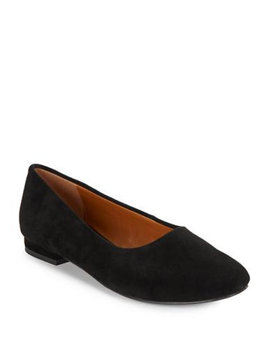 H Halston Linda Suede Flats-BLACK-9.5