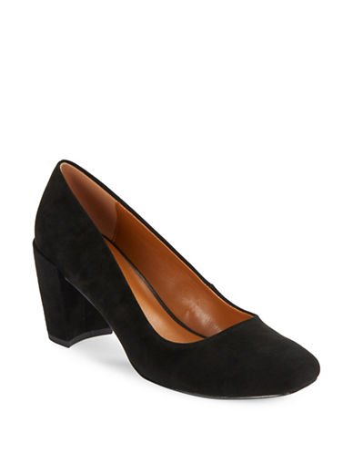 H Halston Whitney Suede Pumps-BLACK-8.5