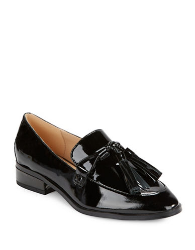 Imnyc Isaac Mizrahi Bianca Patent Leather Loafers-BLACK-8