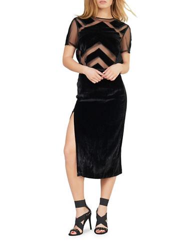 Kendall + Kylie Velvet Burnout Top-BLACK-Medium 88874365_BLACK_Medium