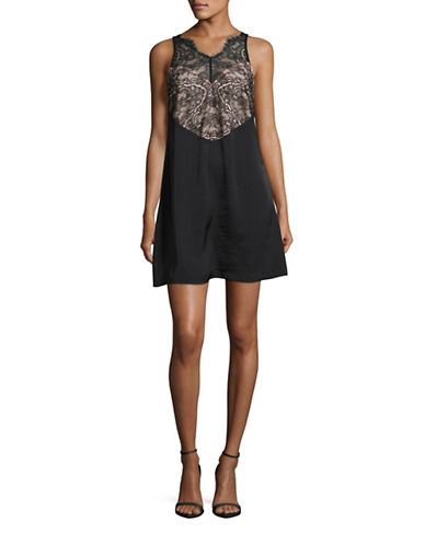 Kendall + Kylie Lace Slip Dress-BLACK-Small