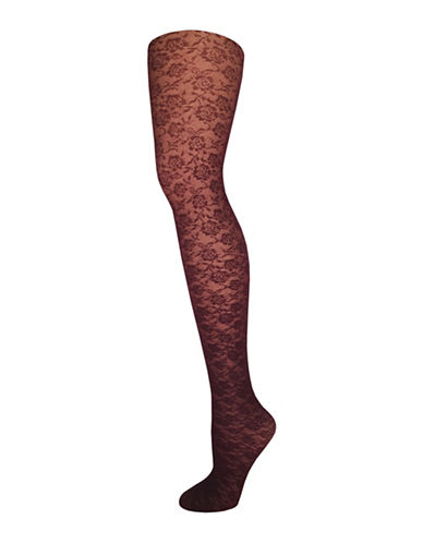Zac Posen All Over Floral Tights-RED-Large