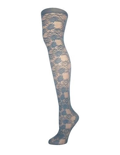Zac Zac Posen Exploded Daisy Floral Tights-GREY-Large 88982452_GREY_Large