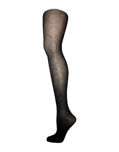 Zac Posen Diamond Tights-GREY-Small