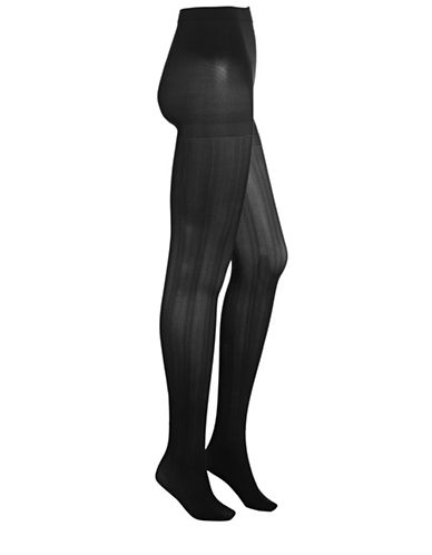 Zac Posen Chevron Tights-BLACK-Small