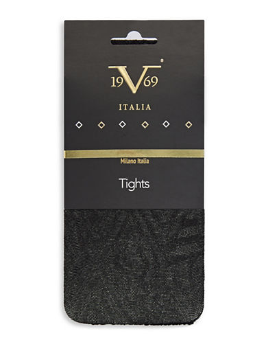 Versace Gothic Tights-BLACK-Medium