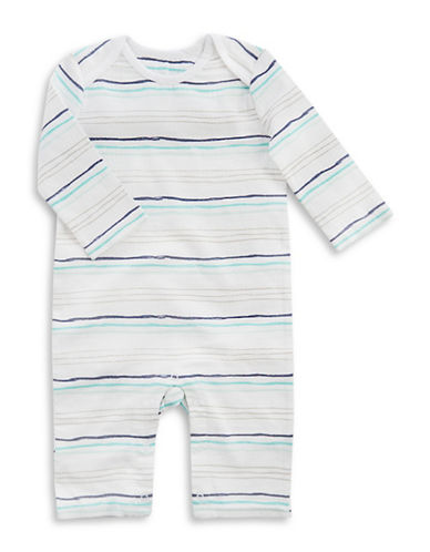 Aden By Aden And Anais Stripe Print Coverall-BLUE-3-6 Months