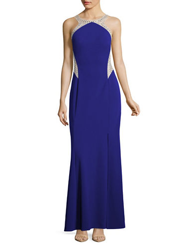 Decode 1.8 Beaded Halter Prom Gown-BLUE-2