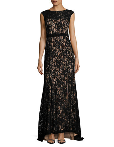 Decode 1.8 Lace Cap Sleeve Gown-BLACK/NUDE-14
