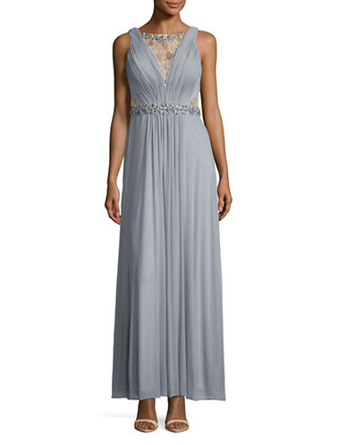 Decode 1.8 Beaded Illusion Lace Chiffon A-Line Gown-GREY-16