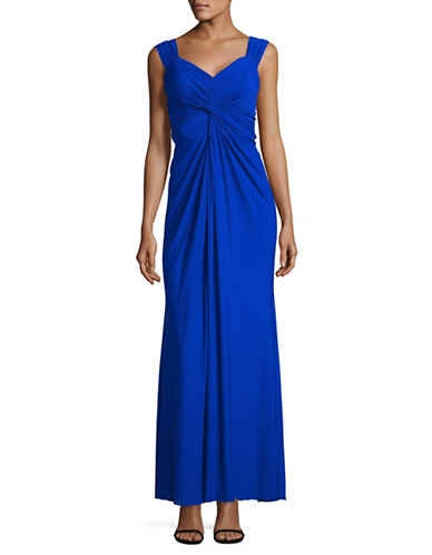 Decode 1.8 Mesh Front Knot Sheath Gown-BLUE-4