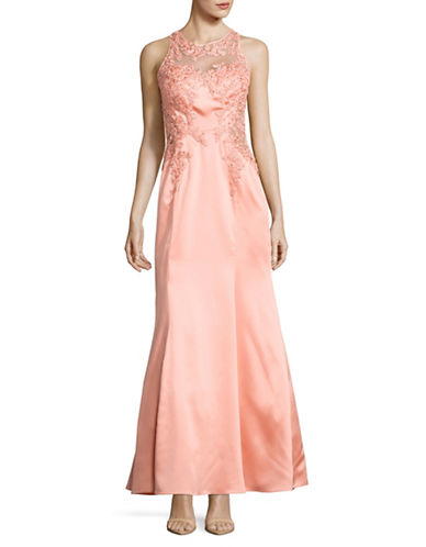 Decode 1.8 Embellished Illusion Lace Gown-PINK-6