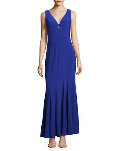 Decode 1.8 Sleeveless Fitted Gown-BLUE-6