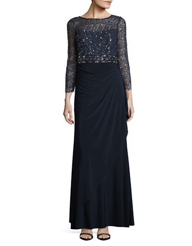 Decode 1.8 Sequin Bodice Gown-NAVY-6
