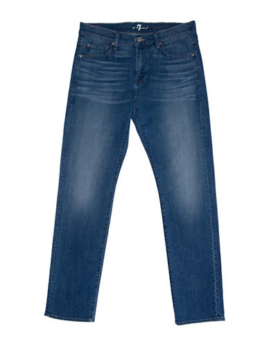 7 For All Mankind Slim-Fit Five-Pocket Jeans-BLUE-33