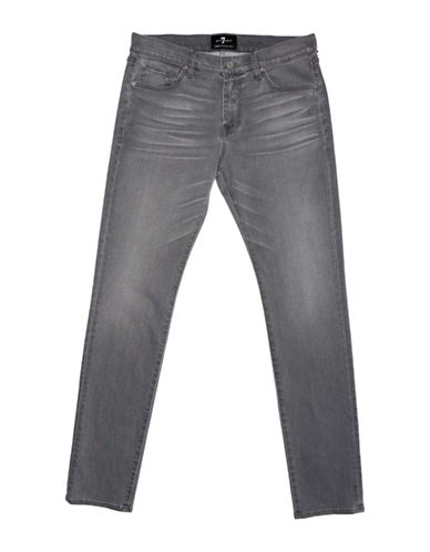 7 For All Mankind Slimmy Luxe Performance Jeans-GREY-34