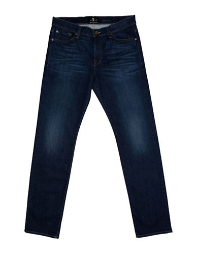7 For All Mankind Slimmy Luxe Performance Voyage Jeans-BLUE-34