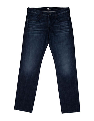 7 For All Mankind Slim-Fit Five-Pocket Jeans-BLUE-29