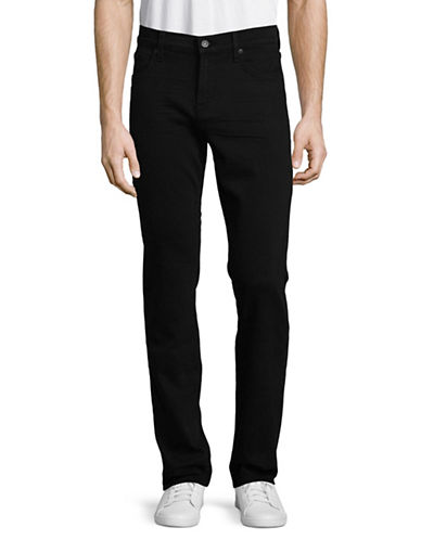 7 For All Mankind Slim Straight Jeans-BLACK-36