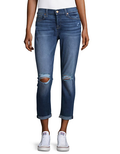 7 For All Mankind Josefina Boyfriend Jeans-BLUE-28
