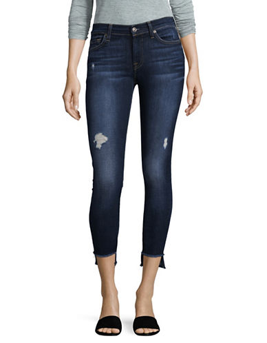 7 For All Mankind Step Hem Skinny Jeans-DARK BLUE-25