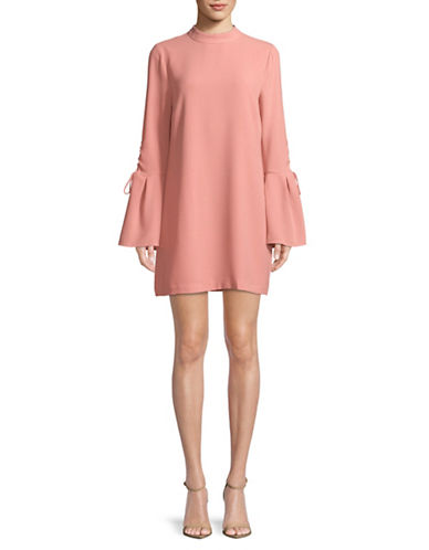 Wayf Martina Bell-Sleeve Shift Dress-ROSE-Large