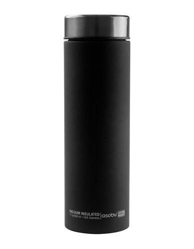 Asobu Lebaton Hot and Cold Stainless Steel Travel Bottle-CHARCOAL-One Size