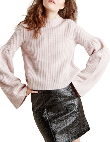 Autumn Cashmere Cropped Cashmere-Blend Sweater-PINK-Medium