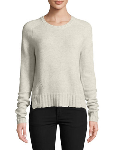 Autumn Cashmere Cashmere Crew Sweater-NATURAL-Large