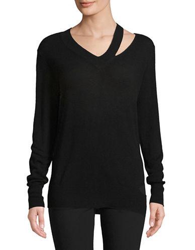 Autumn Cashmere Slash Cashmere Sweater-BLACK-Small