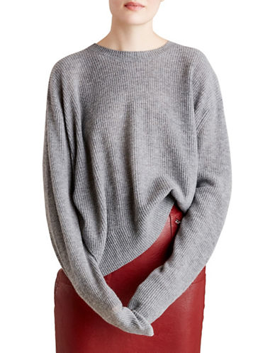 Autumn Cashmere Relaxed Cashmere Sweater-GREY-Large