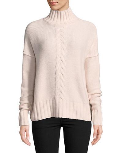 Autumn Cashmere Turtleneck Cashmere Sweater-PINK-Large