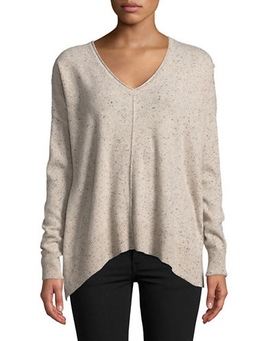 Autumn Cashmere Relaxed Side Slash Cashmere Sweater-PEBBLE-X-Small