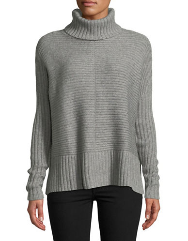 Autumn Cashmere Cashmere-Blend Turtleneck Sweater-GREY-X-Small