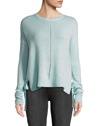 Autumn Cashmere Loose Hi-Lo Cashmere Sweater-SPA BLUE-X-Small