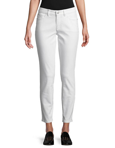 Lord & Taylor Classic Skinny Jeans-WHITE-16