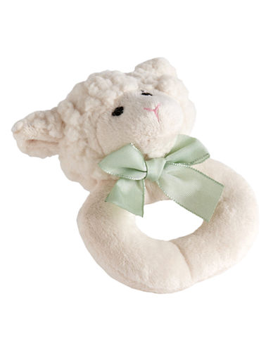 Bearington Baby Lamby Ring Rattle-NATURAL-One Size