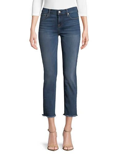 7 For All Mankind Jean coupé à la cheville à bord effiloché Roxanne 90033527